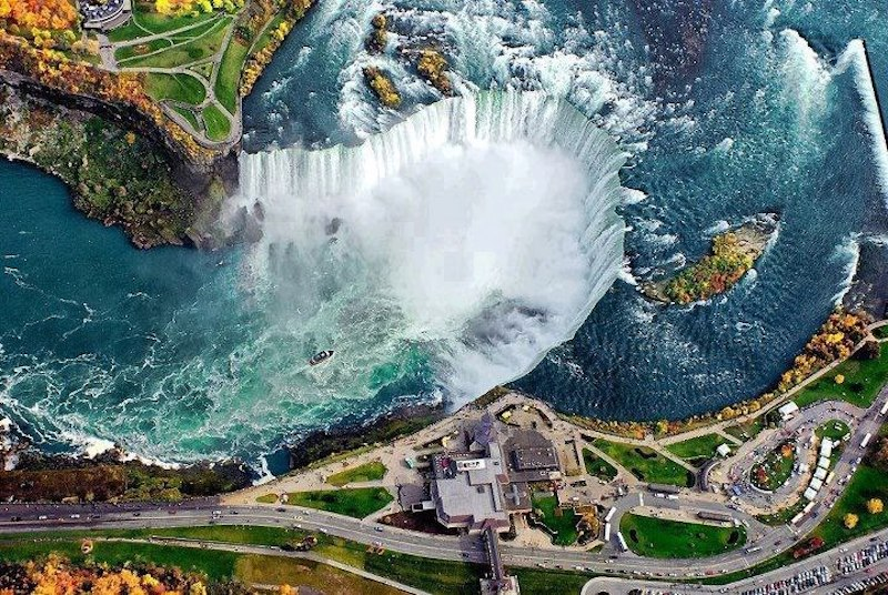The mighty Niagara Falls.