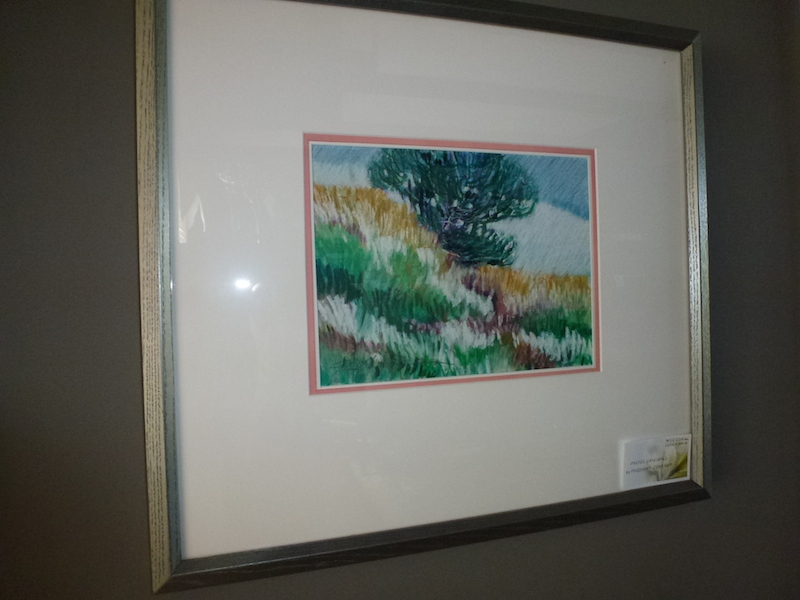 An original pastel by FRIEDBERT RENBAUM.